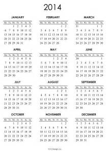 Calendar Template 2014 Printable by 2014 Printable Calendar Templates