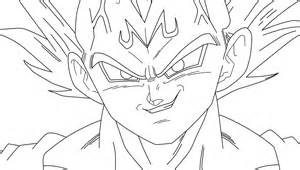 majin vegeta lineart restoration by tukuipat on deviantart