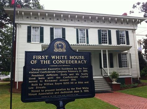 who built the first white house first white house of the confederacy montgomery al picture of first