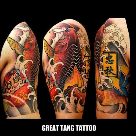 quarter sleeve koi fish tattoo 49 koi fish tattoo designs with meanings