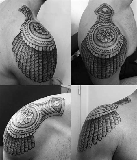 epaulette tattoo 40 epaulette designs for ornamental shoulder