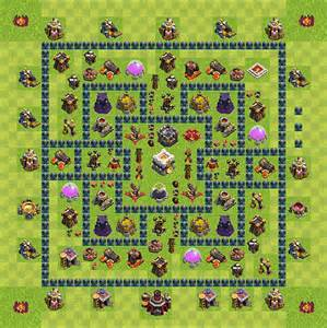 Clash of clans layout base designs for th5 and th6 strategies for