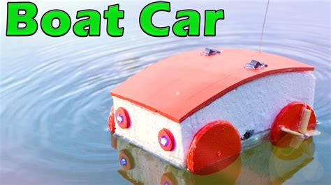 how to make a rc boat youtube how to make a rc boat car car drives on land water