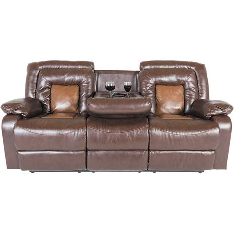 two tone reclining sofa 2 tone brown reclining sofa 1n 275rs cambridge home