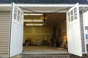 Swing Out Garage Door Clingerman Doors Custom Wood Garage Doors Clearville Pa