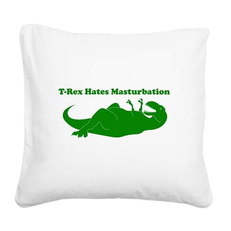 t rex hates square canvas pillow by listing