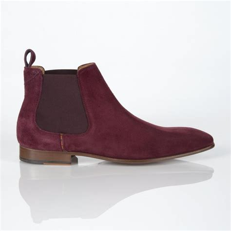 burgundy suede boots paul smith burgundy suede falconer chelsea boots in