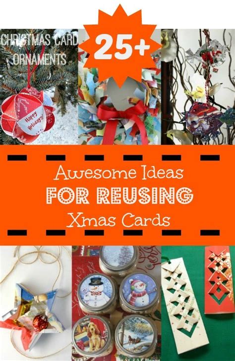 recycle new year decorations 25 ideas for reusing cards
