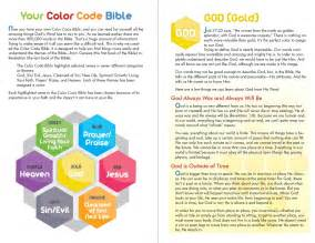 color coded the color code bible
