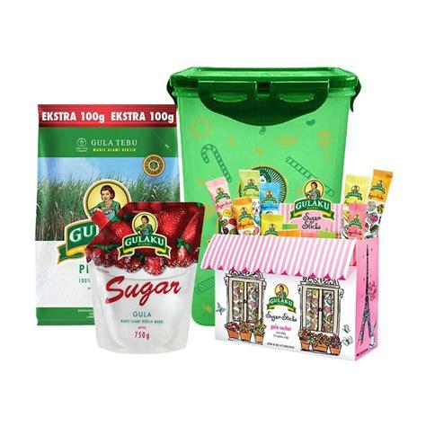 Gula Pasir Gulaku Hijau 1 Kg jual gulaku paket 3 gulaku premium gula pasir 1 1 kg gulaku stickpack box gulaku
