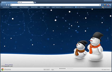 google themes winter winter themes for chrome firefox and internet explorer