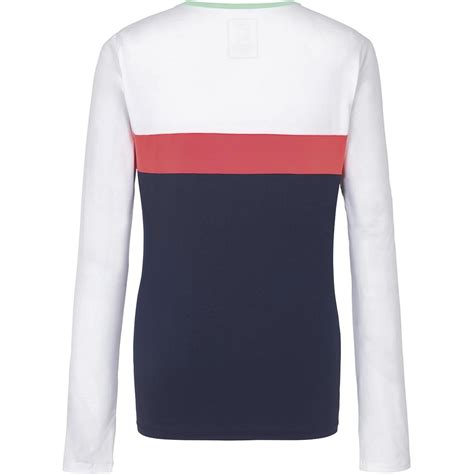 Tennis Sweater Hoodie 01 fila womens heritage sleeve top white pink navy tennisnuts
