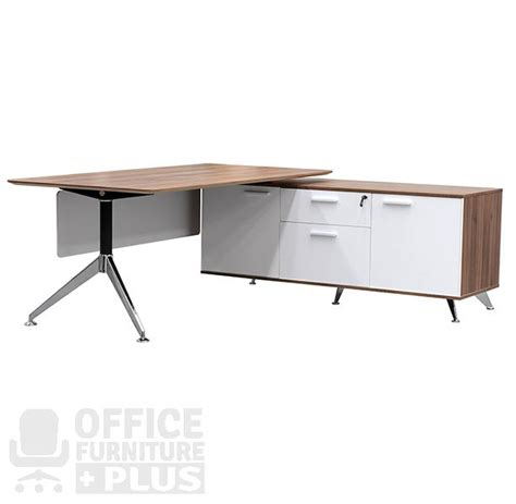 office desk with return potenza rectangular desk with return office furniture plus