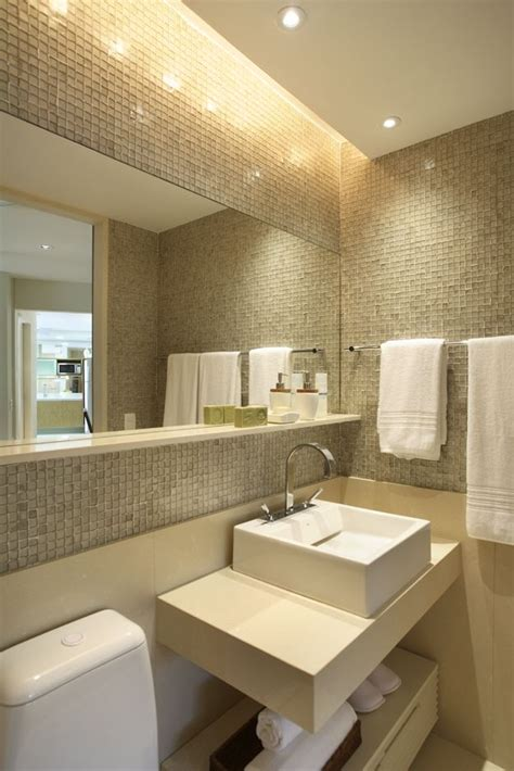 banheiro decorado bege banheiros decorados pastilhas 37 lindas ideias