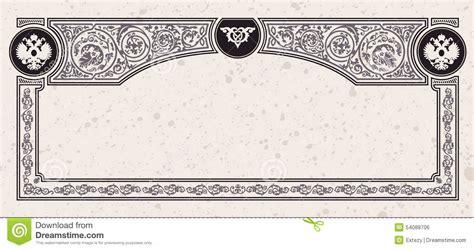 certificate design elements vector calligraphic vintage frame vector certificate stock