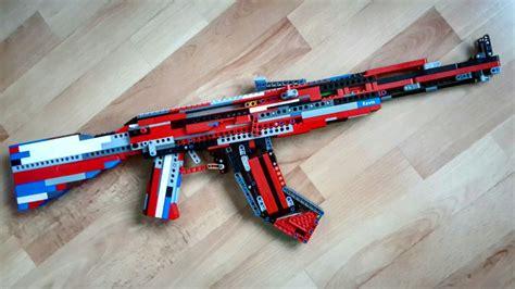 lego rifle tutorial lego ak 47 working tutorial youtube