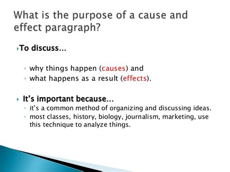 Exles Of Cause And Effect Essays Topics by Cause And Effect Paragraph