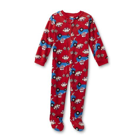wonderkids infant toddler boys fleece sleeper pajamas