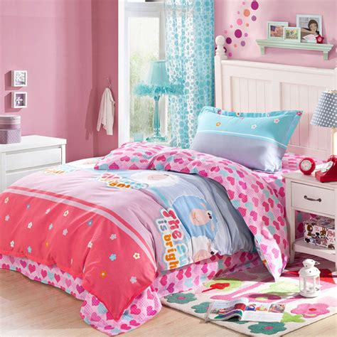blue and pink comforter light blue and pink shaun the sheep cotton bedding set