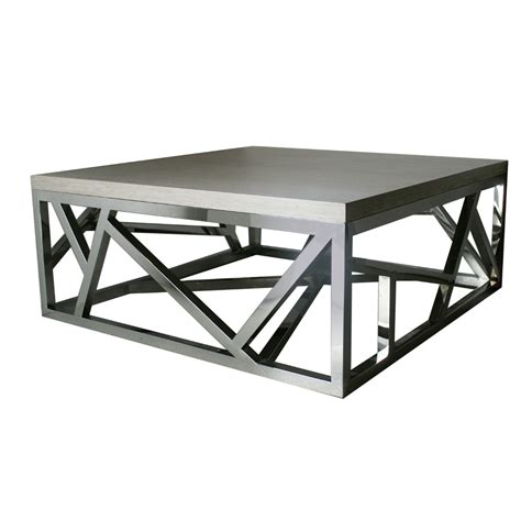 Steel Coffee Table Geometric Stainless Steel Coffee Table Isabelina