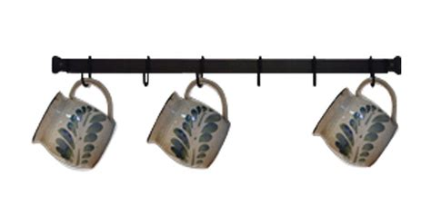 Coffee Cup Rack Wall Mount by Wrought Iron Mug Rack Wall Mounted 24 Inches With 6