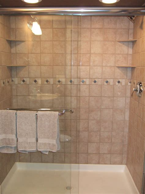 tiling a concrete block shower stall bathroom