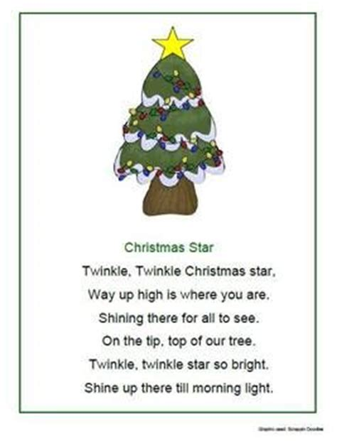 christmas tree poems for children tree poem preschool festival collections