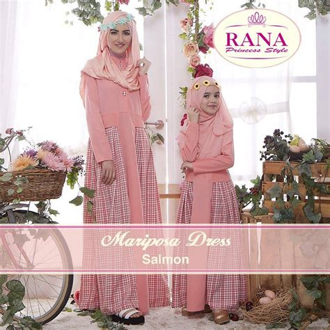 Velian Gamis Dress mariposa salmon baju muslim gamis modern