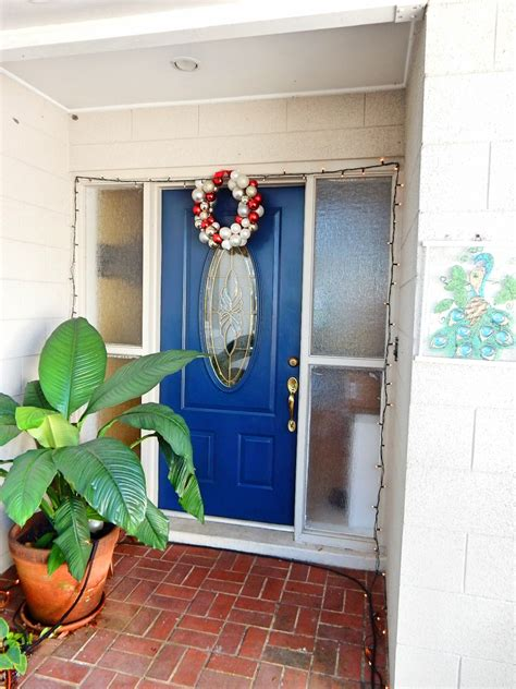 blue front door color for brick house mixed with christmas glossed brown front door color for brick house mixed
