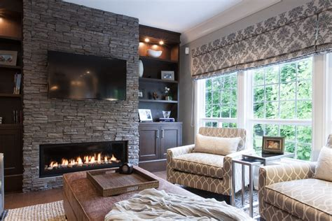 monochromatic bedroom design gas electric fireplace wall