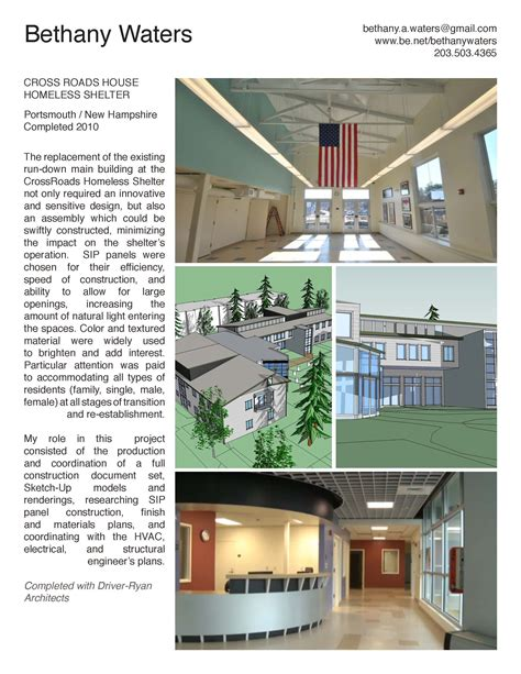 design brief for emergency shelter crossroads house homeless shelter bethany waters archinect