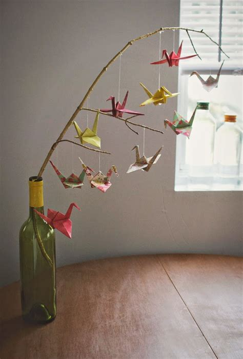 Origami Bird Mobile - how to make a baby mobile and colorful ideas