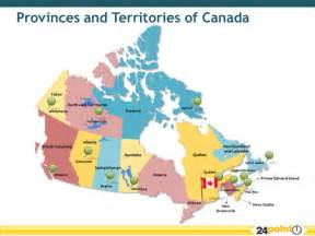 a map of canada with the provinces and territories of