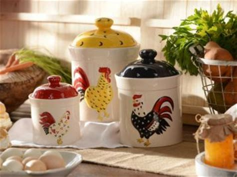 set of 3 rooster canisters country kitchen accent home 684 best french country decor images on pinterest