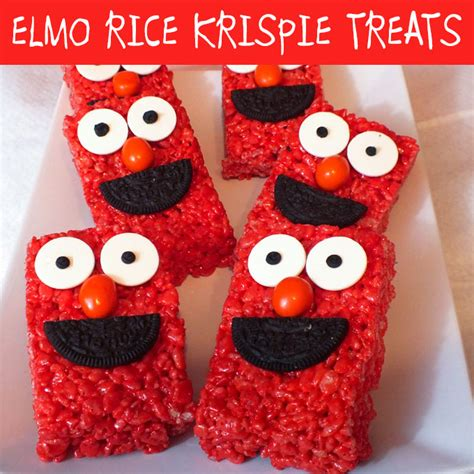 Elmo Rice Krispie Treats Two Sisters Crafting