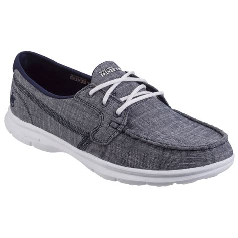 skechers boat shoes skechers go step marina womens casual boat shoes women