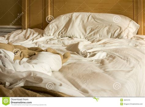 unmade bed unmade bed stock photos image 4591373