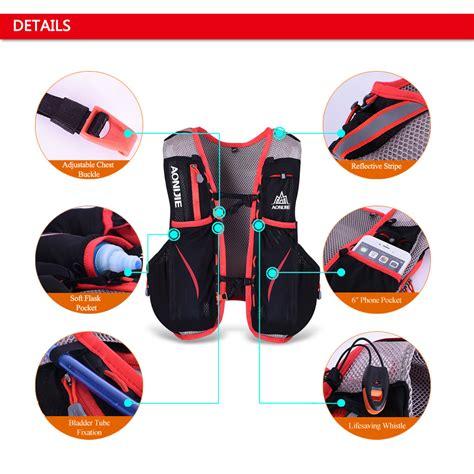 Big Sale Aonijie Tas Olahraga 5l Dengan Hydration Slot 1 5l Size 5l outdoor sport running vest backpack hydration vest pack s0w5 ebay