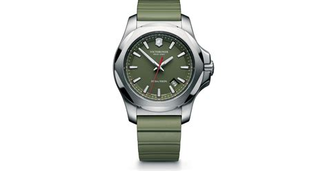 rugged watches for victorinox i n o x rugged with protective cover in green for lyst