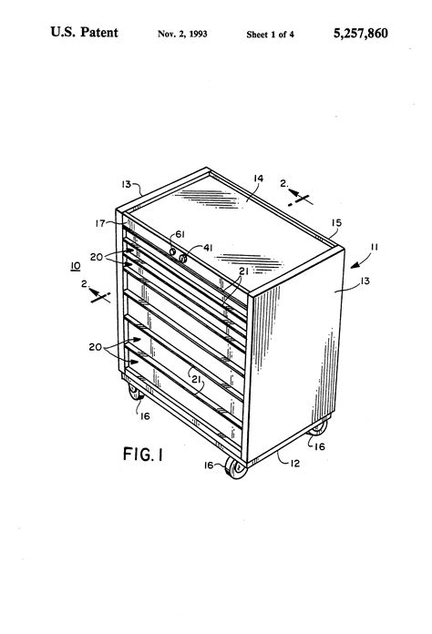 Drawer Locking Mechanism by Patent Us5257860 Drawer Lock Mechanism Including Push