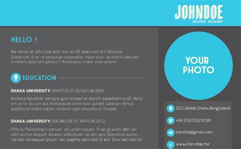 10 amazing design resume templates that will surely get you an inspired magazine