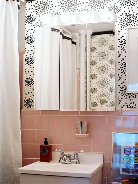 trading spaces flower bathroom reasons to love retro pink tiled bathrooms hgtv s