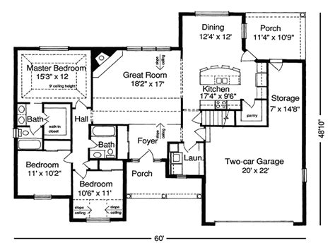 ranch floor plans with great room ranch floor plans without dining room floor plans for
