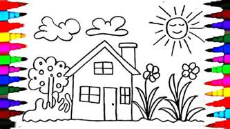 draw kids playhouse learning coloring pages videos children learning colors