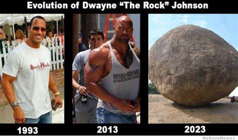 Rock Memes - evolution of dwayne the rock johnson weknowmemes