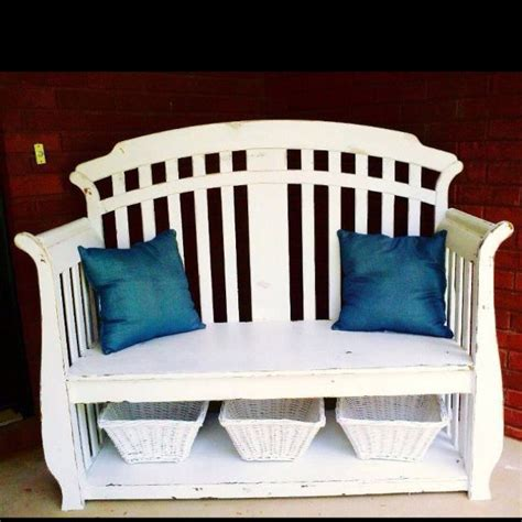 baby bench bench made out of baby crib diy stuff pinterest