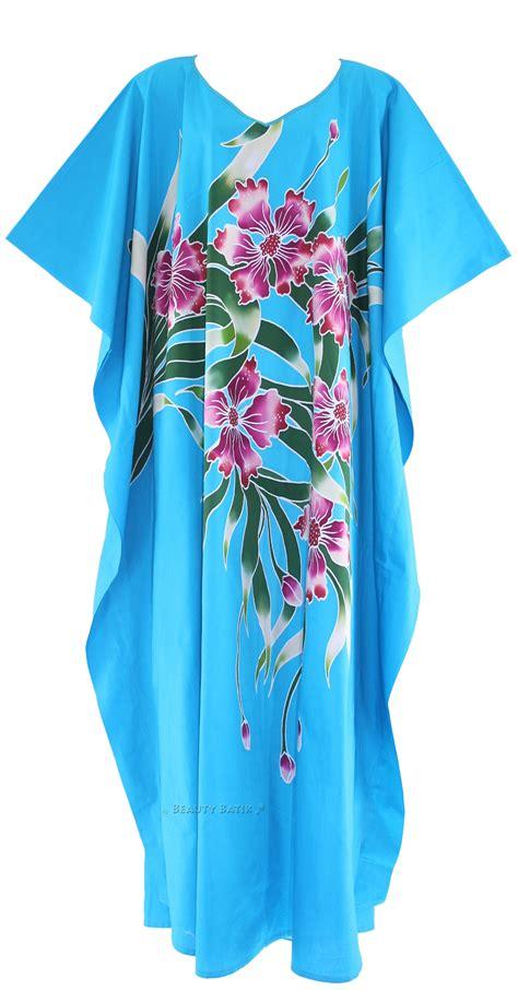 Batik Sarimbit Rok Blus Kaftan blue batik cotton caftan kaftan loungewear dress plus sz 1x 2x 3x 4x 26 28 ebay