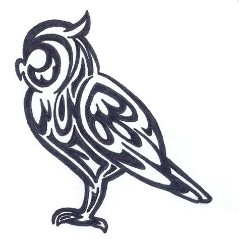 tribal owl tattoo designs clipart best