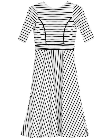 mark rowley contact details lyst cynthia rowley black and white striped knit dress