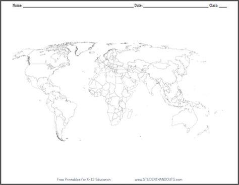 world rivers map worksheet blank outline world map worksheet student handouts